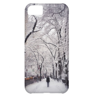Strolling A Snowy City Sidewalk iPhone 5C Case