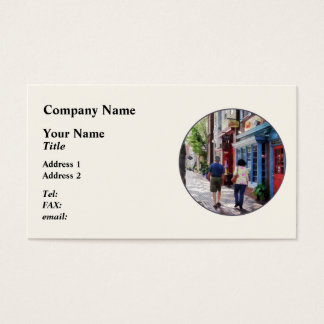 Strolling Down King Street Alexandria VA Business Card