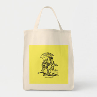 Strolling Ms Kitty Bag Grocery Tote Bag