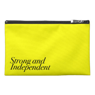 Strong and Independent (Customizable Color) Travel Accessories Bags