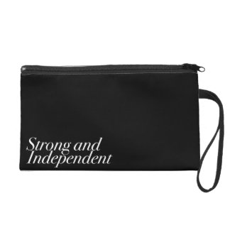 Strong and Independent (Customizable Color) Wristlet