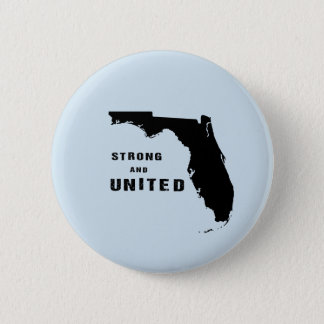 Strong and united florida after hurricane Irma 6 Cm Round Badge