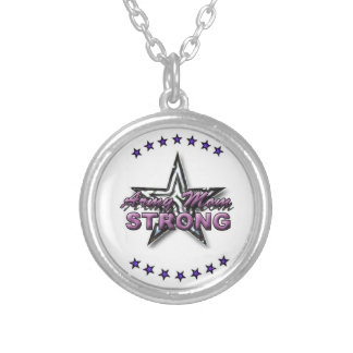 STRONG Army mom Silver Plated Necklace