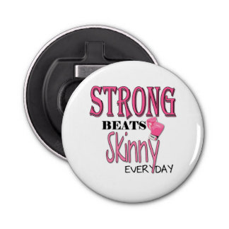 STRONG BEATS Skinny everyday! Pink Boxing Gloves Bottle Opener