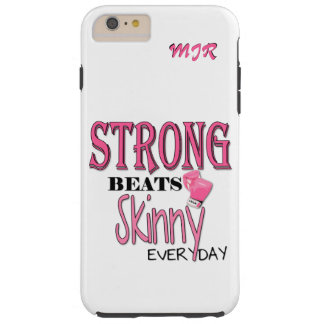 STRONG BEATS Skinny everyday! Pink Boxing Gloves Tough iPhone 6 Plus Case