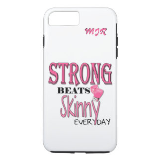 STRONG BEATS Skinny everyday! Pink Boxing Gloves iPhone 7 Plus Case
