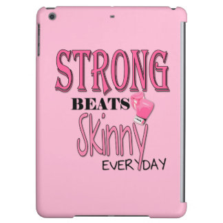 STRONG BEATS Skinny everyday! W/Pink Boxing Gloves iPad Air Cover