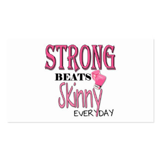STRONG BEATS Skinny everyday! W/Pink Boxing Gloves Pack Of Standard Business Cards