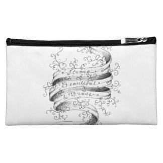 Strong, Beautiful & Brave Cosmetic Bags