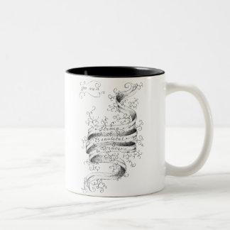Strong, Beautiful & Brave Two-Tone Coffee Mug