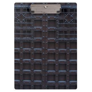 Strong Brown Iron Door Clipboard