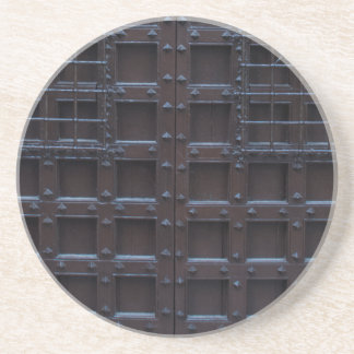 Strong Brown Iron Door Coaster