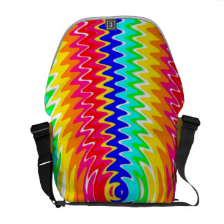 strong colors, waves messenger bags