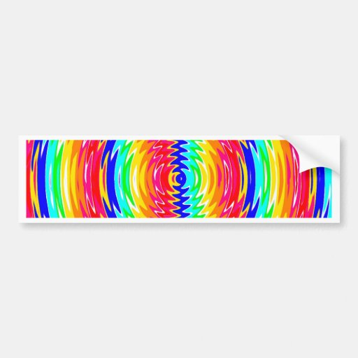 strong colors, waves, vibe bumper sticker