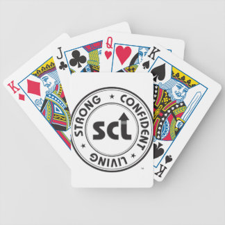 Strong Confident Living Bicycle Playing Cards
