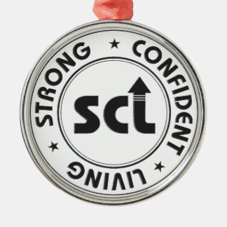 Strong Confident Living Metal Ornament