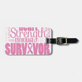 Strong Descriptives Cancer Survivor Luggage Tag