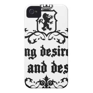 Strong Desire Can Love And Destroy Medieval quote Case-Mate iPhone 4 Case