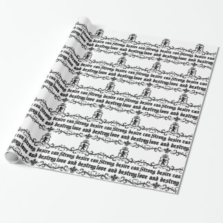 Strong Desire Can Love And Destroy Medieval quote Wrapping Paper