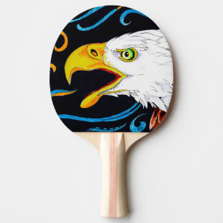 Strong Eagle Ink Art Ping Pong Paddle