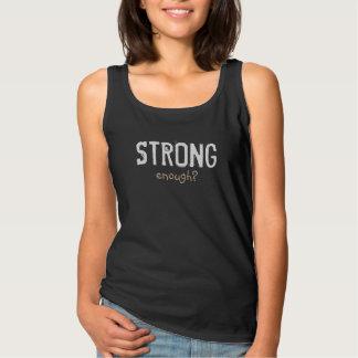 STRONG ENOUGH grey Singlet