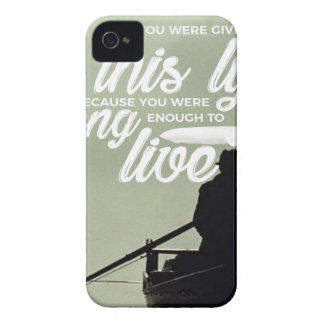Strong Enough To Live This Life iPhone 4 Case-Mate Cases