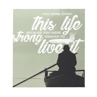 Strong Enough To Live This Life Notepad