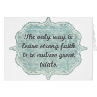 Strong Faith Card