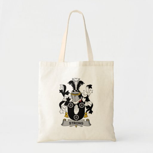 Strong Family Crest Canvas Bag