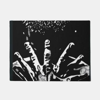 Strong hands door mat