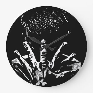 Strong Hands Wall Clock