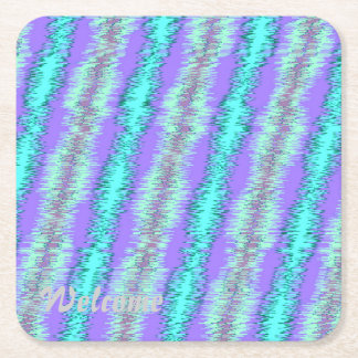 strong impulse blue square paper coaster