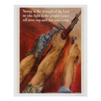 Strong in the Strength of the Lord Poster