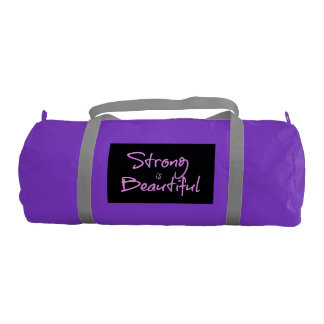 Strong is Beautiful Gym Bag Gym Duffel Bag