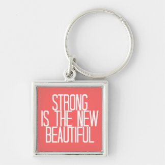 """Strong is beautiful"" keychain"