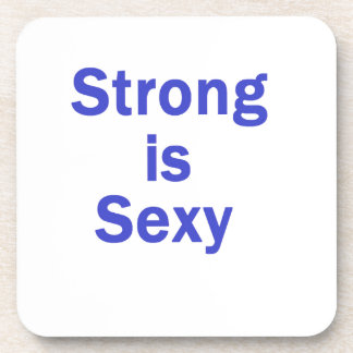 Strong is sexy- Blue Drink Coasters