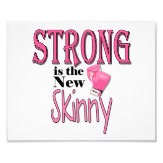 STRONG is the new Skinny! With Pink Boxing Gloves Photo Print