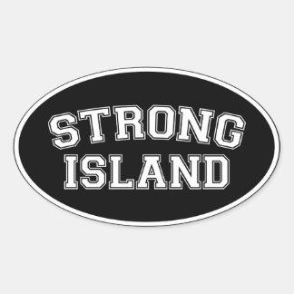 Strong Island, NYC, USA Oval Sticker