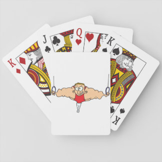 Strong Man Gymnast Playing Cards