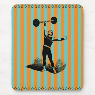 strong man with stripes template mouse pad