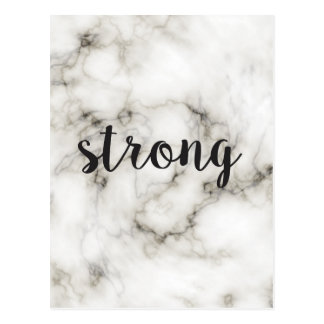 Strong marble postcard