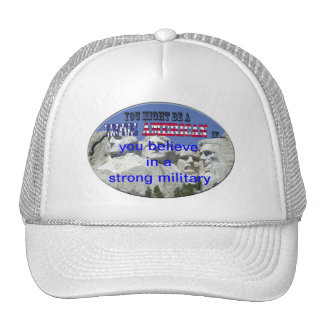 strong military trucker hat