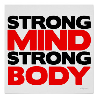 Strong Mind Strong Body Poster