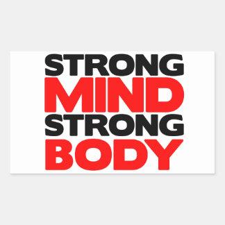 Strong Mind Strong Body Rectangular Sticker