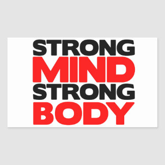 Strong Mind Strong Body Rectangle Sticker