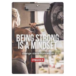 Strong Mindset - Women's Fitness Inspirational Clipboard