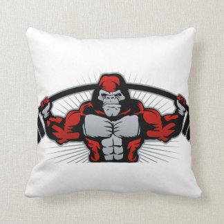 Strong monkey athlete throw pillow
