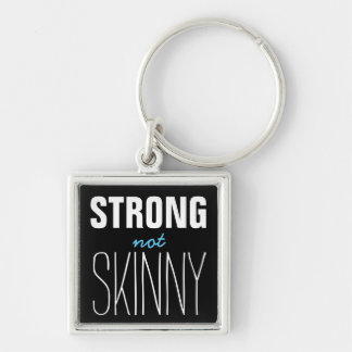 Strong Not Skinny Silver-Colored Square Key Ring