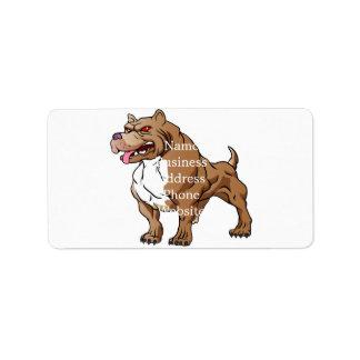 strong pitbull bodybuilder. address label