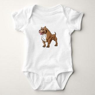 strong pitbull bodybuilder. baby bodysuit